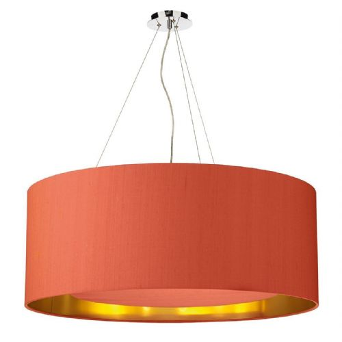 Hockney 90cm Pendant Light Chrome with Shade (choose colour) HOC90 (Hand made, 10-14 day Del)